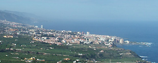 View on Puerto de la Cruz